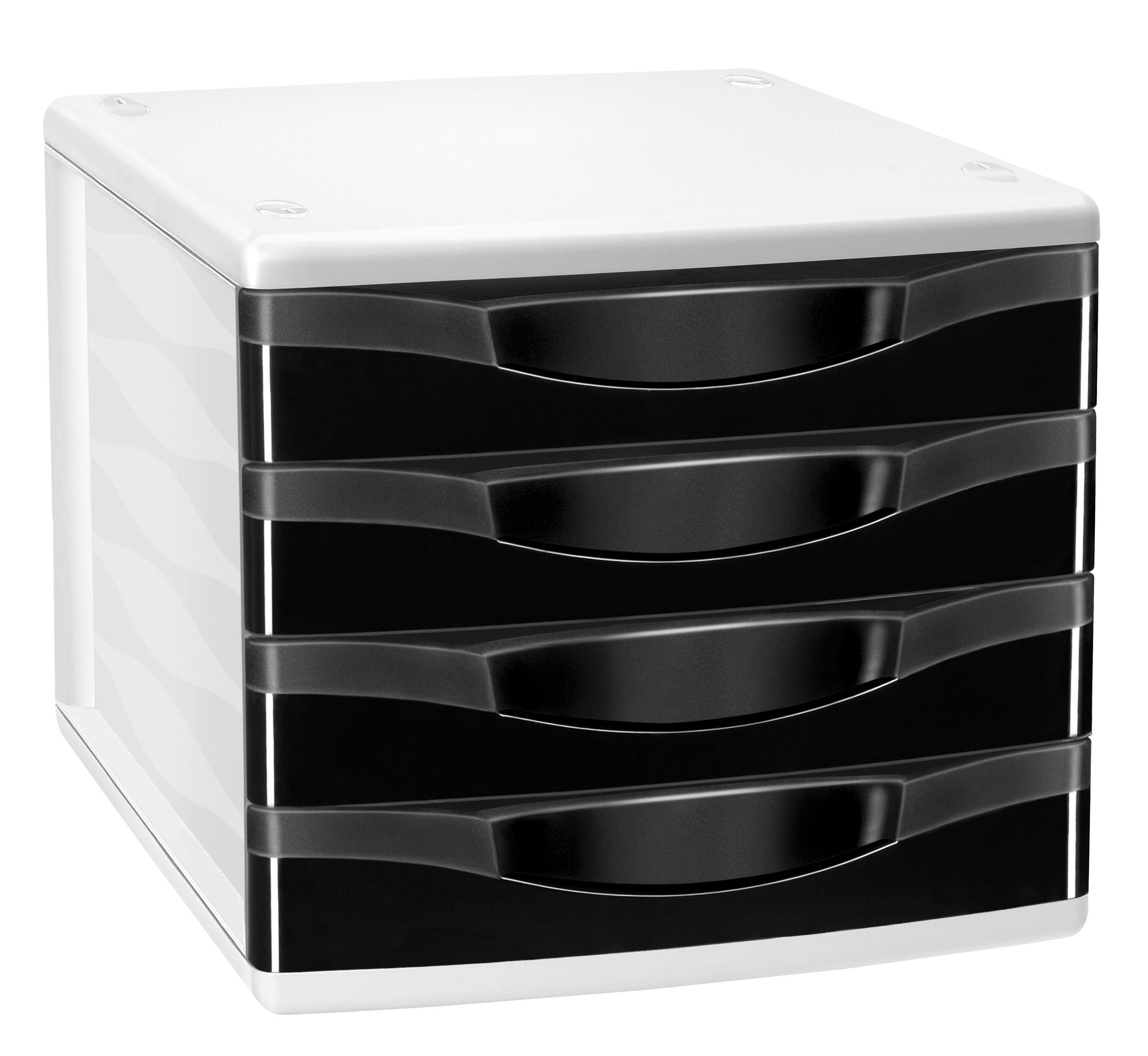 CEP Confort - Module de classement 4 tiroirs - noir