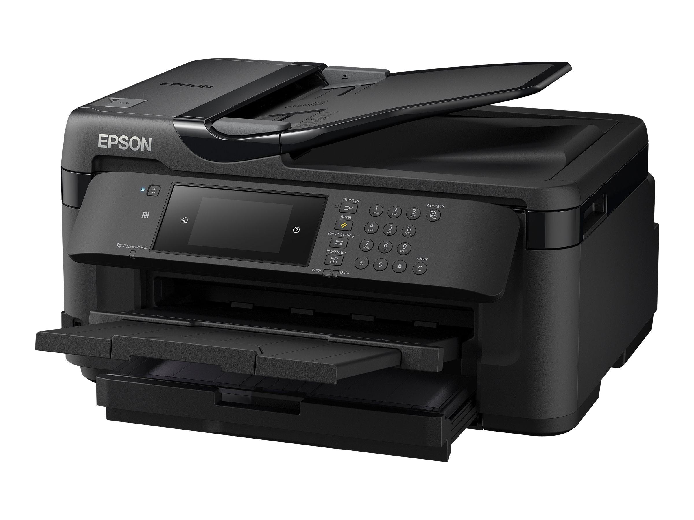 Epson WorkForce WF-7710DWF - imprimante multifonctions jet d'encre couleur A3 - Wifi, USB, NFC - recto-verso