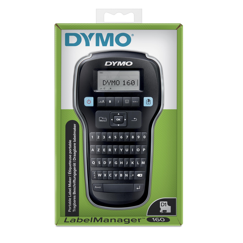 Dymo LabelManager 160 - Étiqueteuse - imprimante d'étiquettes monochrome - impression par transfert thermique