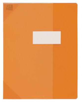Oxford Strong Line - Protège cahier sans rabat - 24 x 32 cm - orange translucide