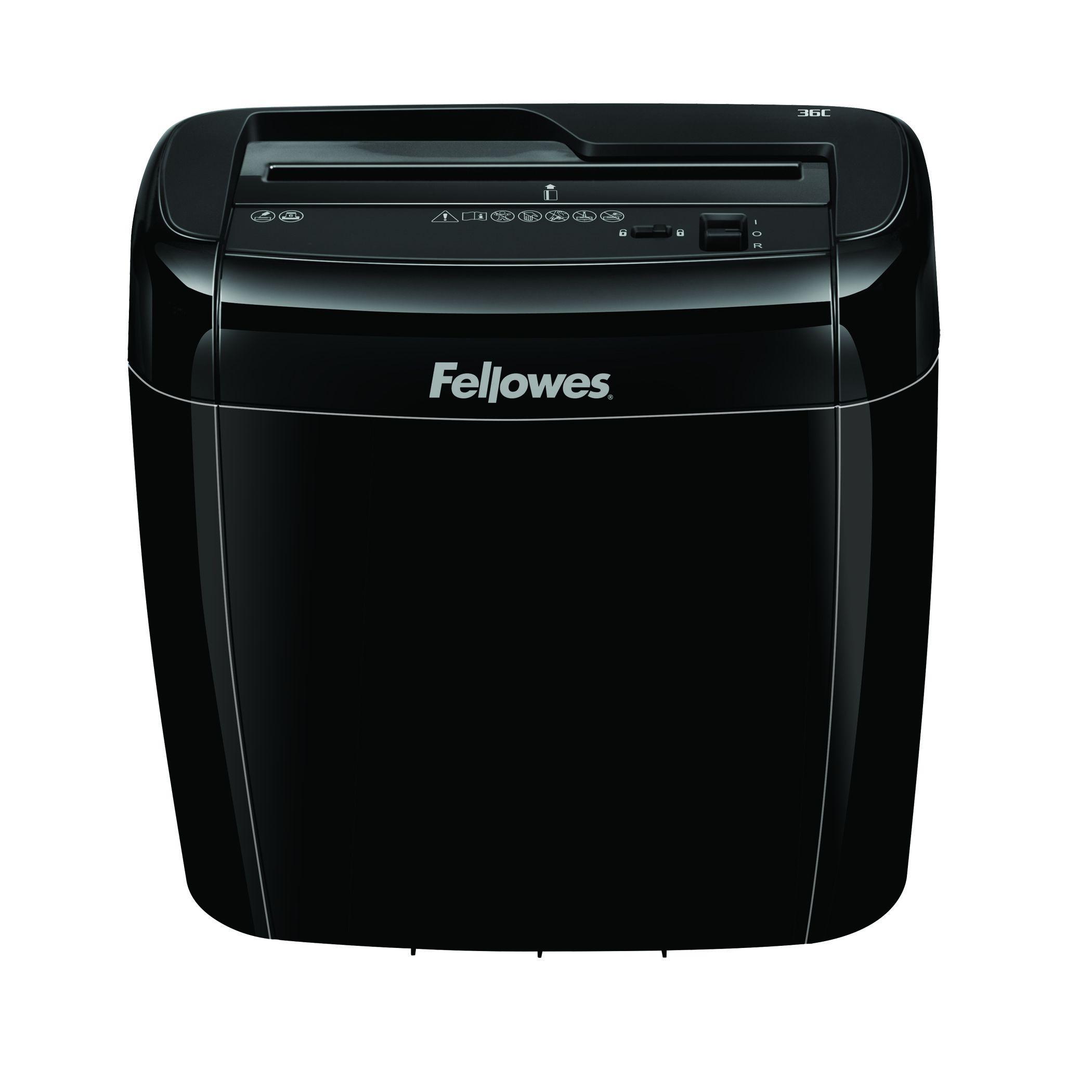 Fellowes Powershred 36C- destructeur de documents coupe croisée  - 6 feuilles - Corbeille 12 litres