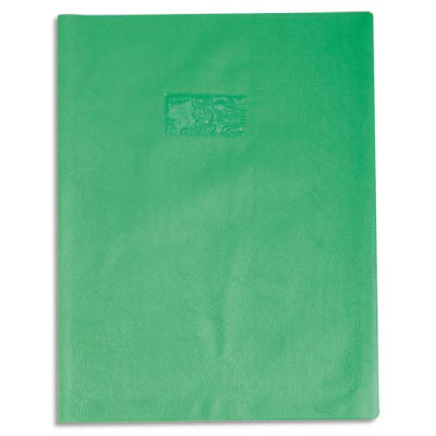 Calligraphe - Protège cahier sans rabat - A4 (21x29,7 cm) - grain losange - vert