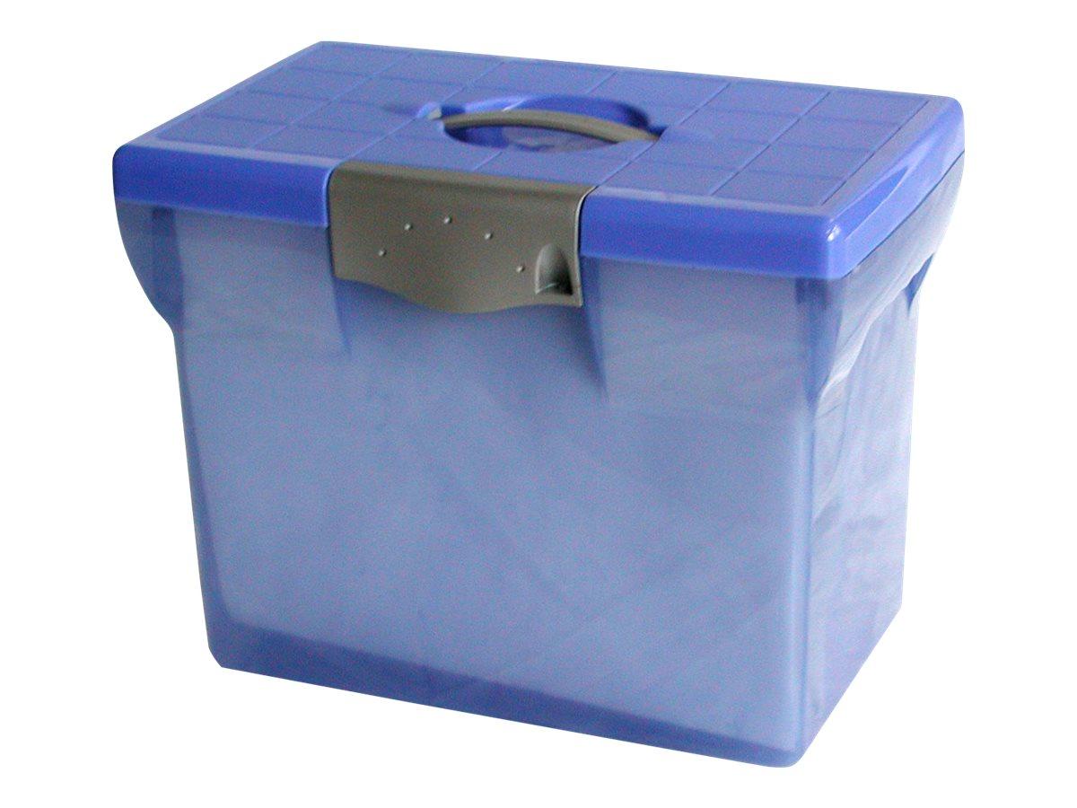 Pierre Henry - Classeur ménager en plastique (valisette) avec 5 dossiers suspendus - bleu