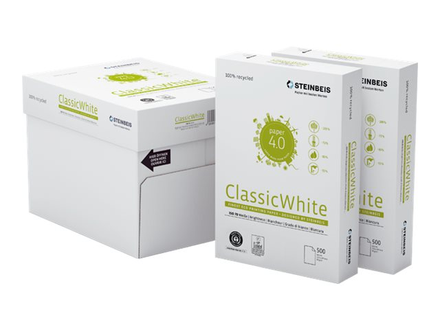 Steinbeis ClassicWhite - Papier blanc recyclé - A4 (210 x 297 mm) - 80 g/m² - 500 feuilles