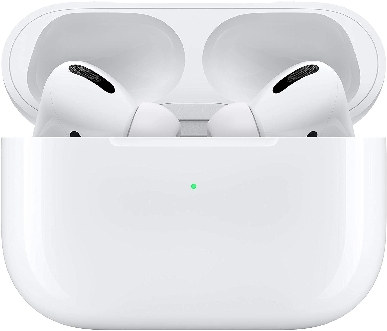 Apple AirPods Pro - Ecouteurs sans fil bluetooth avec boitier de charge filaire pour iPhone/iPad/Mac