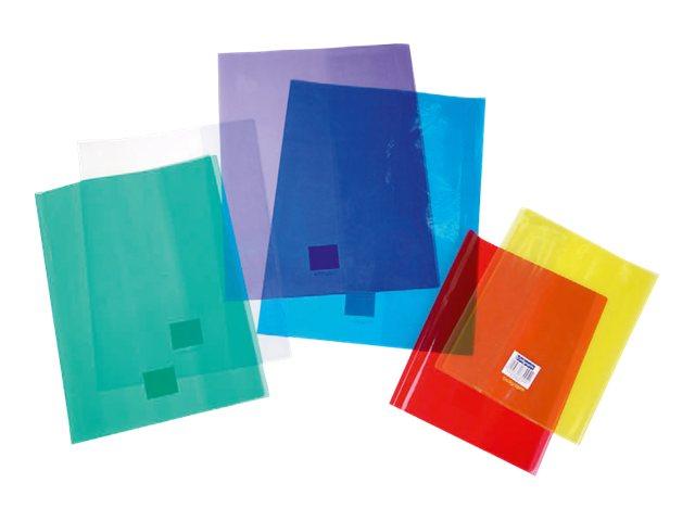 Calligraphe - Protège cahier sans rabat - A4 (21x29,7 cm) - cristalux - bleu transparent